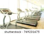 blur gym fitness room modern... | Shutterstock . vector #769231675