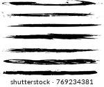 set of grunge brush strokes | Shutterstock .eps vector #769234381