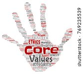 vector conceptual core values... | Shutterstock .eps vector #769235539
