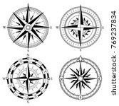 wind rose retro design vector... | Shutterstock .eps vector #769237834