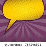 blank dialog box. art comic...   Shutterstock .eps vector #769246531