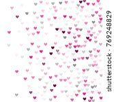 beautiful pink confetti hearts... | Shutterstock .eps vector #769248829