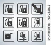 gas station   fuel pump black... | Shutterstock .eps vector #769252819
