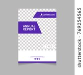 annual report  flyer ... | Shutterstock .eps vector #769254565