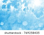 winter bright background with... | Shutterstock . vector #769258435