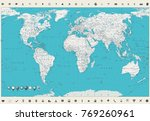 world map. vintage colors and... | Shutterstock .eps vector #769260961