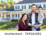 mixed race chinese and... | Shutterstock . vector #769261081