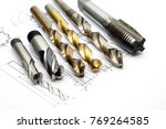 professional cutting tools used ... | Shutterstock . vector #769264585