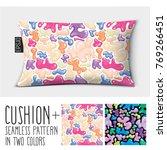design vector pillow  cushion . ...   Shutterstock .eps vector #769266451