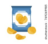 bag of potato chips isolated on ... | Shutterstock .eps vector #769269985