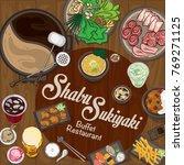 menu shabu sukiyaki restaurant... | Shutterstock .eps vector #769271125