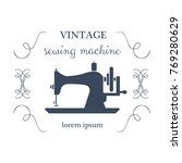 sewing machine logo | Shutterstock .eps vector #769280629