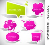 colorful paper bubble for speech | Shutterstock .eps vector #76928272
