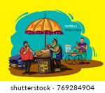 mumbai street food vada pav... | Shutterstock .eps vector #769284904