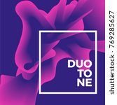 duo tone poster  trends style.... | Shutterstock .eps vector #769285627