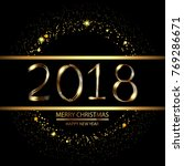 happy new year background with... | Shutterstock .eps vector #769286671