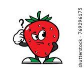 cartoon confused strawberry... | Shutterstock .eps vector #769296175