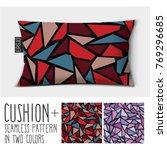 design vector pillow  cushion .... | Shutterstock .eps vector #769296685