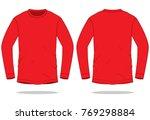red long sleeve t shirt for...   Shutterstock .eps vector #769298884