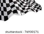 checkered black and white flag... | Shutterstock . vector #76930171