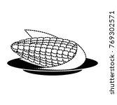 corn fresh isolated icon | Shutterstock .eps vector #769302571
