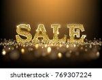 luxury golden sale sign. vector ... | Shutterstock .eps vector #769307224