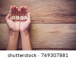 """the word """"give"""" in hands in... 