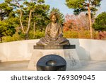 Small photo of Gangneung, gangwon-do, South Korea - December 1, 2017 : Statue of Shin Saimdang. (She was the mother of the Korean Confucian scholar Yi I)