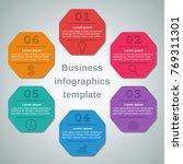infographics elements 6 options ... | Shutterstock . vector #769311301