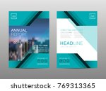 annual report brochure layout... | Shutterstock .eps vector #769313365