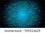 binary circuit board future... | Shutterstock .eps vector #769313629