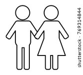 gender silhouette human icon   Shutterstock .eps vector #769314844