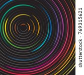 circle abstract on black... | Shutterstock .eps vector #769315621