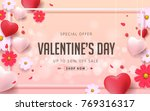 valentines day sale background... | Shutterstock .eps vector #769316317