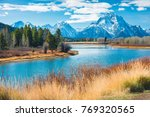 grand teton national park ... | Shutterstock . vector #769320565