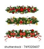 vector christmas fir decoration ... | Shutterstock .eps vector #769320607