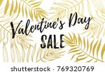 valentine day sale banner or... | Shutterstock .eps vector #769320769