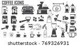 coffee icons set. luwak  ... | Shutterstock .eps vector #769326931