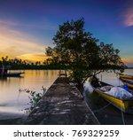 selective focus  yellow rubber... | Shutterstock . vector #769329259