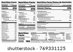 nutrition facts label design... | Shutterstock .eps vector #769331125