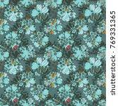 elegant little flowers and... | Shutterstock .eps vector #769331365