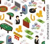 casino and gambling game... | Shutterstock .eps vector #769334185