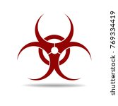 biohazard symbol. vector sign | Shutterstock .eps vector #769334419
