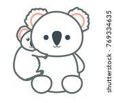 cute koalas design  | Shutterstock .eps vector #769334635