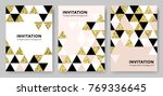 abstract geometric gold pattern ... | Shutterstock .eps vector #769336645