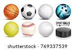 sport balls vector. set of... | Shutterstock .eps vector #769337539