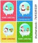 happy new year merry xmas... | Shutterstock .eps vector #769339339