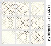 golden abstract geometric... | Shutterstock .eps vector #769342354