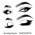 hand drawn woman's sexy... | Shutterstock .eps vector #769343974