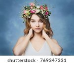 beautiful young woman in a...   Shutterstock . vector #769347331